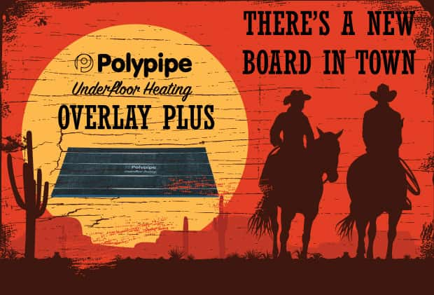 Polypipe's Overlay Plus Underfloor Heating Boards