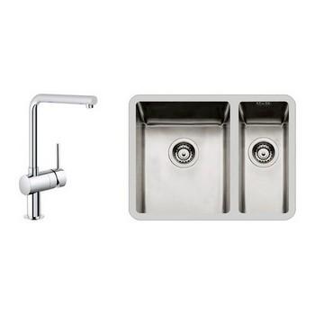 Foster KE Undermount Sinks & Grohe Tap Combo