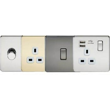 Screwless Sockets and Switches