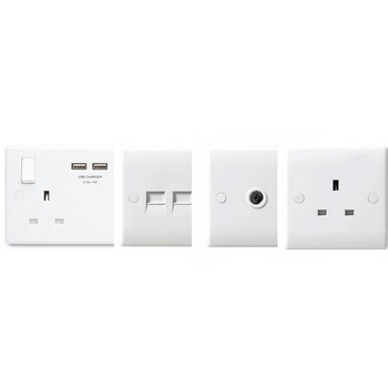 White Moulded Sockets