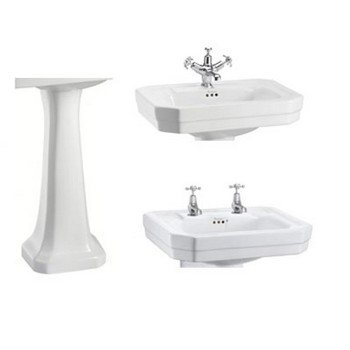 Burlington Victorian Basins & Pedestals