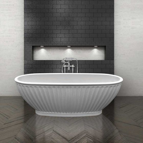 Bc Designs Casini Cian Solid Surface Bath 1680 X 750 Gloss White Bab035