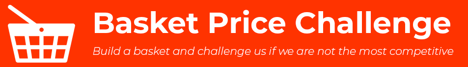 Basket Price Challenge. Build a basket and challenge us if we are not the most competitive