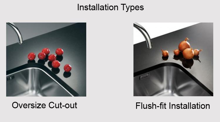 Flush-fit installation Vs Oversize cut out